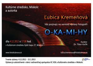 Pozvanka O-KA-MI-HY Miskolc