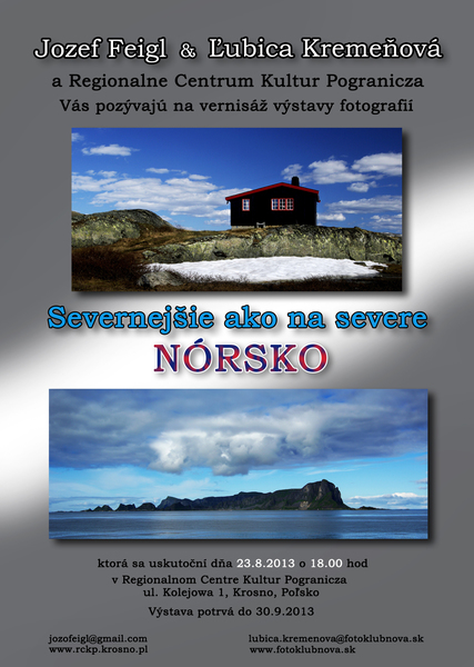 Pozvanka Norsko - Krosno 2013